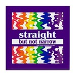 straight but not narrow Tile Coaster