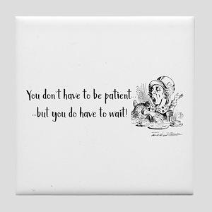 Mad Hatter Wisdom Tile Coaster