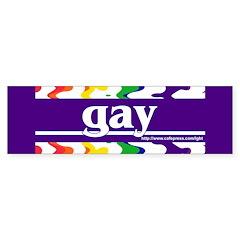 gay Bumper Bumper Sticker