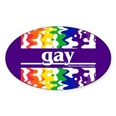 gay Oval Decal