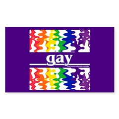 gay Rectangle Decal