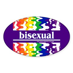 bisexual Oval Decal