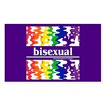 bisexual Rectangle Sticker