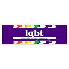 lgbt - lesbian, gay, bisexual Bumper Bumper Sticker