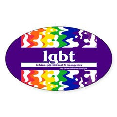 lgbt - lesbian, gay, bisexual Oval Decal