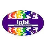 lgbt - lesbian, gay, bisexual Oval Sticker