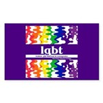 lgbt - lesbian, gay, bisexual Sticker (Rectangular