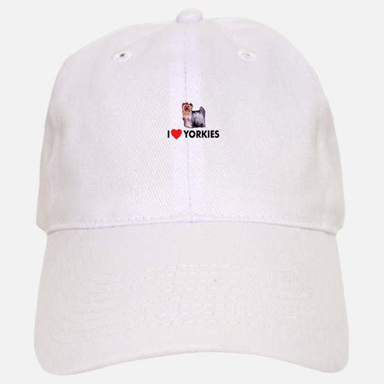 I Love Yorkies Baseball Baseball Cap