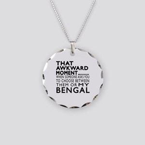 Awkward Bengal Cat Designs Necklace Circle Charm