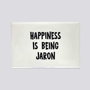 Happiness is being Jaron Rectangle Magnet