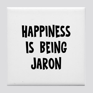 Happiness is being Jaron Tile Coaster