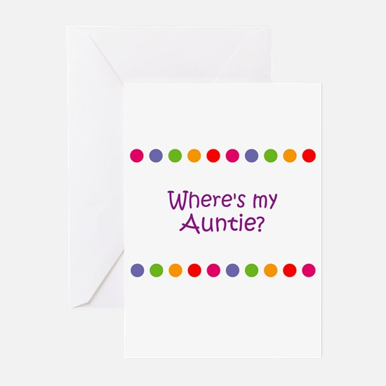 Where's my Auntie? Greeting Cards (Pk of 10)