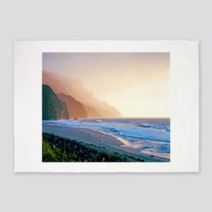 Sunset Kalalau Beach Kauai Hawaii Tropical Duvet 5