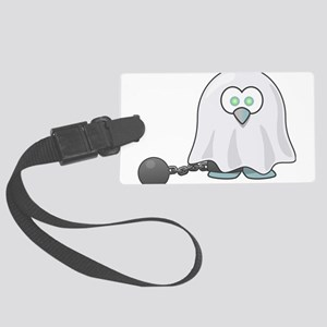 Penguin Ghost with Ball & Ch Large Luggage Tag