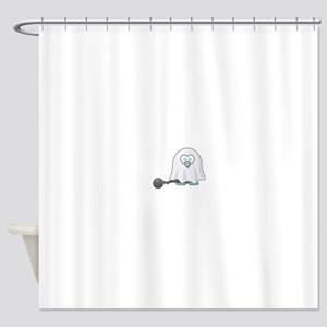 Penguin Ghost with Ball & Chain Shower Curtain