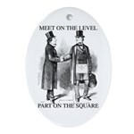 Meeting On the Level - Black Oval Ornament