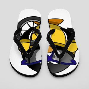 Racing Penguin Flip Flops