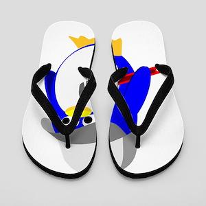 Blue Handyman Penguin Flip Flops