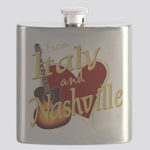 Love Nashville from Italy Flask