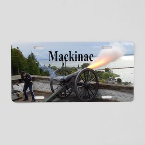 Cannon Fire Aluminum License Plate