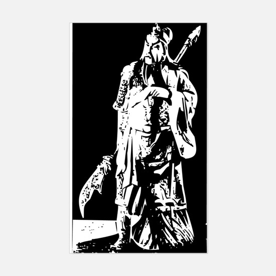 Guan Yu Rectangle Decal