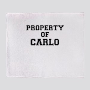 Property of CARLO Throw Blanket