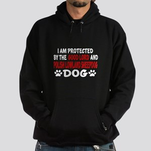 Protected By Polish Lowland Sheepdog Hoodie (dark)