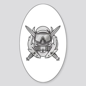 Combat Diver (2) Oval Sticker