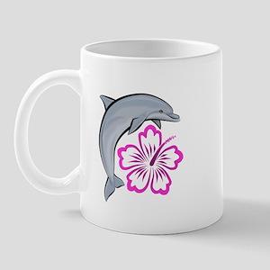 Dolphin Hibiscus Pink Mug