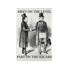 Meeting On the Level - Black Rectangle Magnet (10