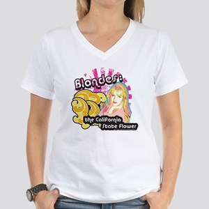 90210 Blondes California St Women's V-Neck T-Shirt