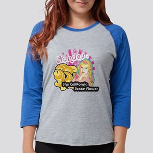 90210 Blondes California State Womens Baseball Tee