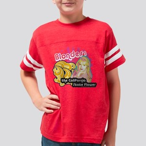 90210 Blondes California Stat Youth Football Shirt