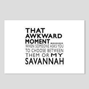 Awkward Savannah Cat Desi Postcards (Package of 8)