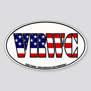 Vast Right Wing Conspiracy Oval Sticker