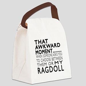 Awkward Ragdoll Cat Designs Canvas Lunch Bag