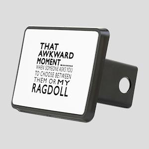 Awkward Ragdoll Cat Design Rectangular Hitch Cover