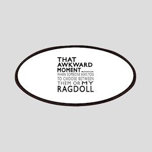 Awkward Ragdoll Cat Designs Patch