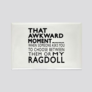 Awkward Ragdoll Cat Designs Rectangle Magnet