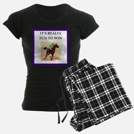Horse racing joke Pajamas