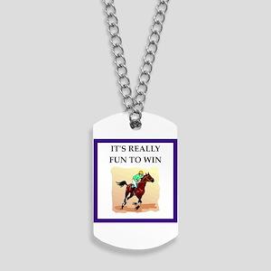 Horse racing joke Dog Tags