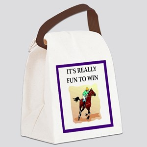 Horse racing joke Canvas Lunch Bag
