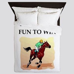 Horse racing joke Queen Duvet