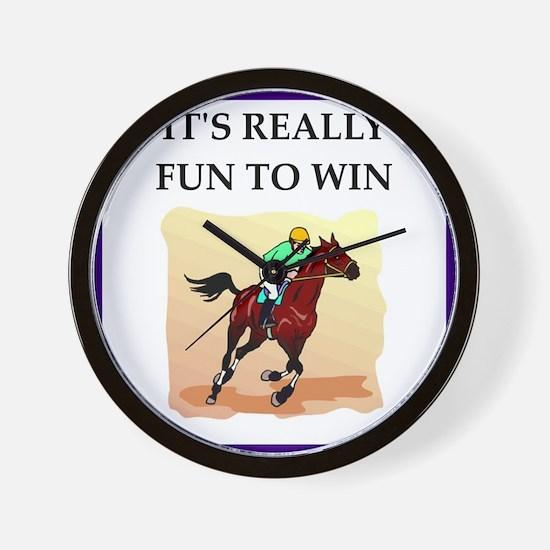 Horse racing joke Wall Clock