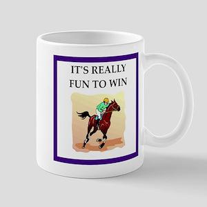 Horse racing joke Mugs
