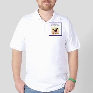 Horse racing joke Golf Shirt