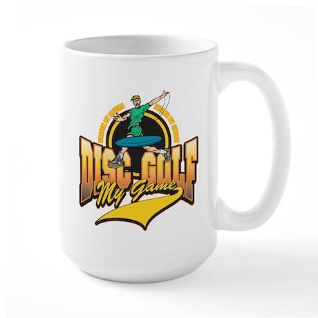 Disc Golf My Game Large Mug