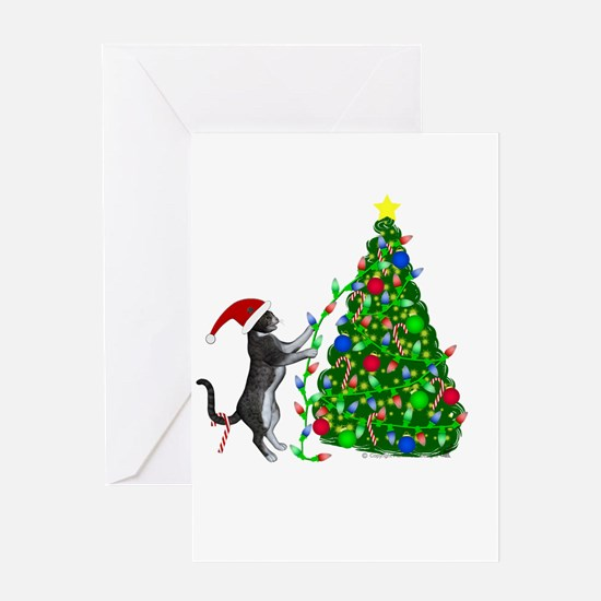 Christmas Kitty Cat Greeting Cards