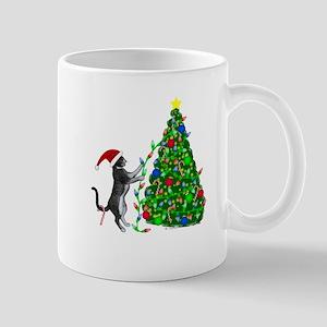 Christmas Kitty Cat Mugs