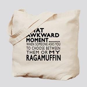 Awkward Ragamuffin Cat Designs Tote Bag